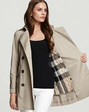 Burberry Brit Balmoral Classic  Trench Coat Jacket size 10 (EU44) NEW