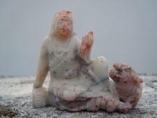 Netsuké homme asiatique animal sculpture pierre dure Okimono 19eme