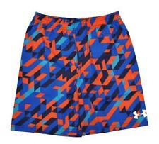 Under Armour Boys Blue & Orange Printed Swim Short Size 5