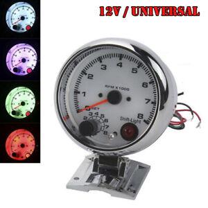 Universal 12V Car SUV Tachometer Gauge Tachometer Retrofit Seven Colorful Light