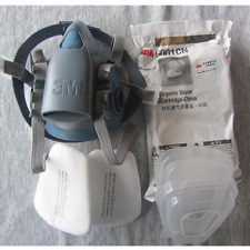 3M 7502 7Pc Combination suit  Respirator Painting Spraying Face Gas Mask