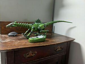 """WowWee 28"""" Roboreptile Animated Robotic Robot Dinosaur Reptile GREEN COPPER"""