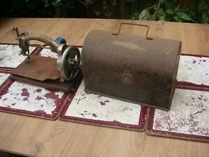 Old Vintage Antique Child IDEAL Chain Stitch Sewing Machine  For Restoration