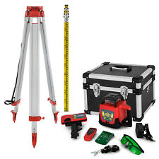 Rotary Green Laser Level+Tripod+Staff Construction Measure Kit Self Leveling