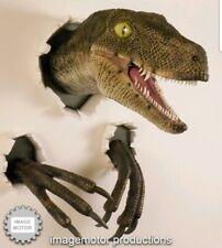Jurassic Park World Velociraptor Life Size Prop Replica Dinosaur Wall bust New
