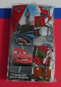 Cars Underwear 7 Pack Mater McQueen Disney Cotton Briefs Boys Toddler 4T NIP