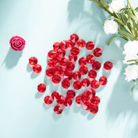50 PCS Red Crystal Octagon Faceted Glass Prism Beads Chandelier Part 14mm