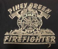 VTG Piney Green NC Fire Department Firefighter T Shirt Medium Jacksonville Thin