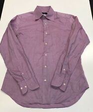 Marco Valentino Button Front Shirt custom 15.5  39 purple mens shirt