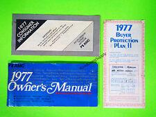 1977 AMC Pacer Gremlin Hornet Matador Owners Manual Owner's Guide Book Set