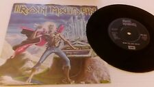 "IRON MAIDEN LIVE run to the hills 1985  uk  vinyl 7"" single   emi  5542"