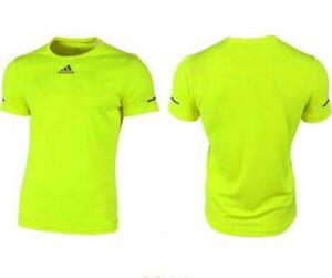 Adidas Run T-Shirt Men's Running Shirt Sports Fitness Neon Yellow/Green
