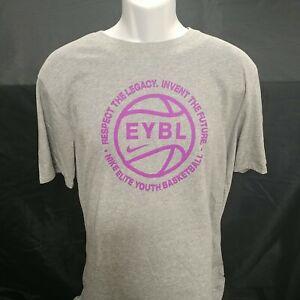 Nike Nationals EYBL Grey (with Fuchsia) T-Shirt **BRAND NEW**-XL