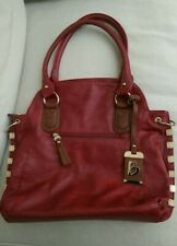 REDUCED! Bessie Red Faux Leather Large Shoulder Bag