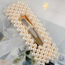 WomenGirls Pearl Hair Clip Hairpin Barrette KOREAN STYLE Simple Hair Accessories