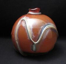 SIGNED STANISLAV MELIS AUSTRALIAN STUDIO ART GLASS VASE 1977 MUSEUM QUALITY