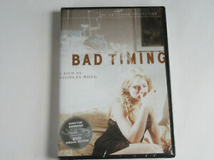 BAD TIMING (DVD 2005, Criterion Collection) w/ Nicolas Roeg SIGNATURE STICKER!!!
