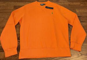 NWT Polo Ralph Lauren Crew neck Sweatshirt Orange Mens Large