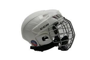 CCM 50 Hockey Helmet Combo White Senior/Adult Size M