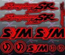 Sym Symphony SR 125 RED BLACK Stickers / Decals autocollant aufkleber