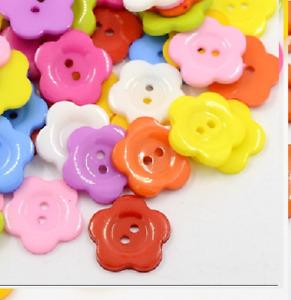 100 Bulk 20mm  Flower Wintersweet Buttons  Craft Scrapbooking Bouquet Sewing