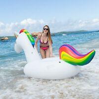 NEW SLAIYA Giant Unicorn Inflatable Swimming Pool Float Raft For Adults & Kids
