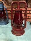 Antique Paull's No. 0 Tubular Lantern with Red Ham #20 E Globe