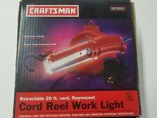 Craftsman Cord Reel Work Light Fluorescent 20' 83892