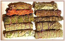 SET of 10 Sage Smudge Stick SAMPLER Blue, Red, White, Black Pinon Cedar Lavender