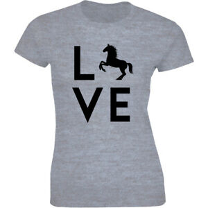 Love Horse Barrel Racing Horse Lightweight Shirt Women's T-shirt Gift Tee