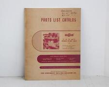 Cincinnati Milling Table Parts List Catalog Pub. No. M-2341