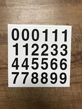 UV Resistant Vinyl Number Decals For Mailboxes Helmets Indoor & Outdoor Project