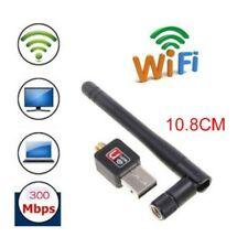 300M USB WIFI Wireless LAN Adapter Long Range 2dBi Antenna for Desktop Computer