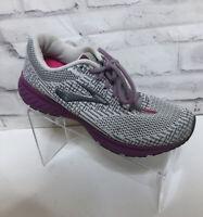 Brooks Womens Revel 3 White/Gray Purple Running Shoes Size 8.5 1205021B034
