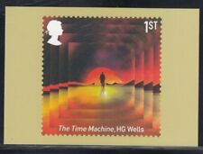 """Great Britain """"The Time Machine"""" by Hg Wells Royal Mail Stamp Card"""