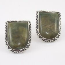 Jay King Desert Rose Trading DTR Sterling Silver Labradorite Scroll Earrings