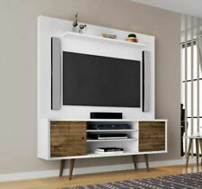 TV Wall Mount Stand for 55 58 60 Inch Universal Entertainment Center Brown White
