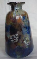 *Vase pâte verre Muller Frères décor marmoréen -feuille d'or,argent 1930/35