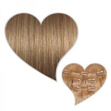 Clip-In-Extensions 90 Gramm 40 cm karamellblond #14 Echthaar Haarteile mit Clips