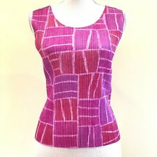 PLEATS PLEASE ISSEI MIYAKE Pink Block Pattern Pleated Tops size 3 I5470I5M