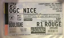TICKET / BILLET PSG-OGC NICE 27/04/1997 D1 paris saint germain sg no maillot