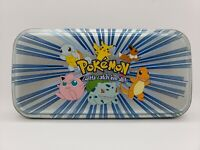 POKEMON ACCESSORY NETWORK METAL TIN POKEMON CHARACTERS PENCIL CARD STORAGE CASE