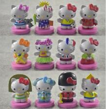 12pcs Hello kitty National Dress up Action figure Toys Gift Car Decoration Cake
