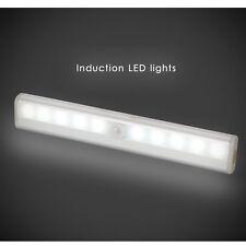 2x 10 LED Light Bar Wireless Motion Sensor Cabinet Night Light Battery Operated
