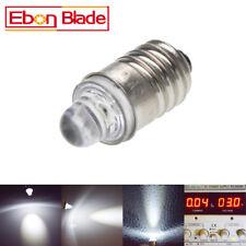 1X COOL WHITE FLASHLIGHT DIP LED LAMP SCREW 3 VOLT DC BICYCLE TORCH E10 MES BULB