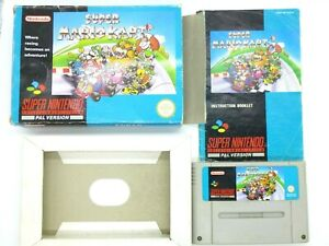 Nintendo SNES Game SUPER MARIO KART - BOXED - AUS PAL Tested - protected case