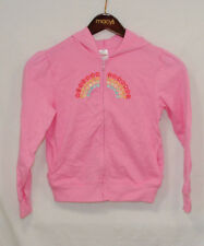 VTG Spring Rainbow Girls Size 12 Hooded Jacket Pink Hoodie Embroidery NWT