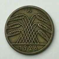 Dated : 1926 A - Germany - 5 Pfennig - German Coin