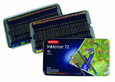 Derwent Inktense Water-Soluble Ink Pencils 72 Tin Complete Set of Colours