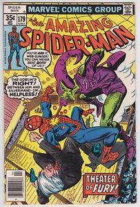 Amazing Spider-Man #179 VF-NM 9.0 Silvermane The Green Goblin Ross Andru Art!-